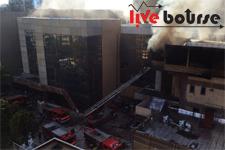 آتش سوزی ناگهانی در وزارت کشور + تصاویر