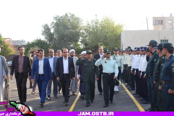 صبحگاه مشترک نیروهای مسلح شهرستان جم برگزار شد