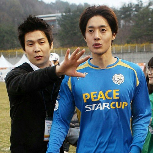 Hyun Joong in FC Men with Manager Seo