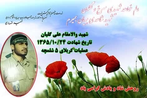 پوستر شهید والامقام: محمّد رضا علی گلیان