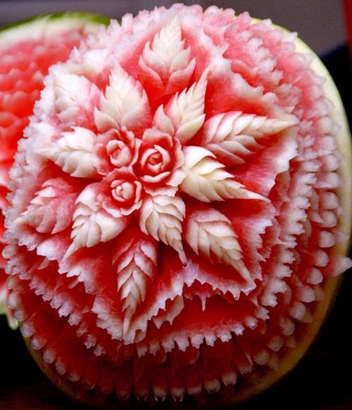 شکل گل با هندوانه
