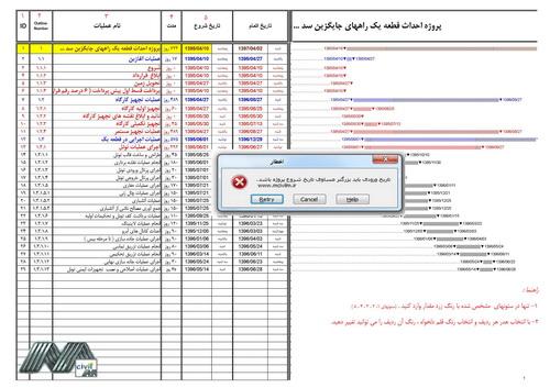 نمونه برنامه زمان بندی پروژه