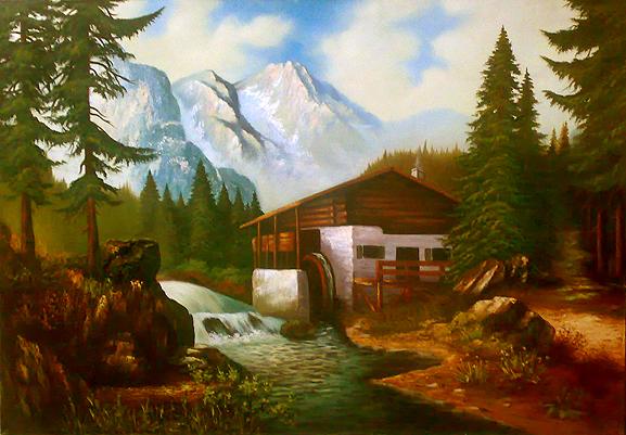فروش تابلو نقاشی آسیاب