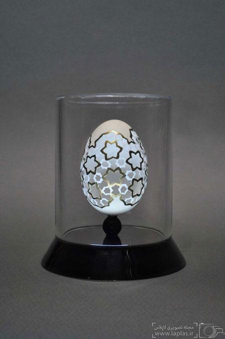 شاهکارهای یک ایرانی یر روی تخم مرغ
