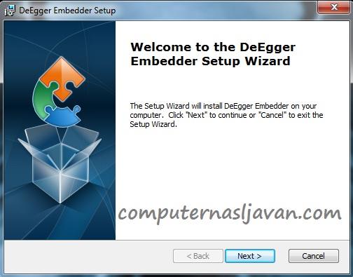 مخفی کردن فایل در فایلی دیگر با نرم افزار DeEgger Embedder 1.3.1