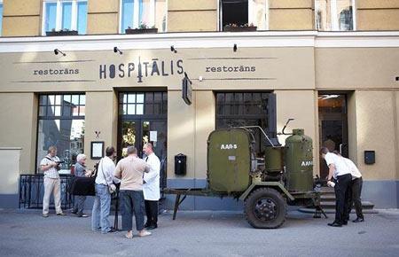 رستورانی شبیه به بیمارستان  تصاویر