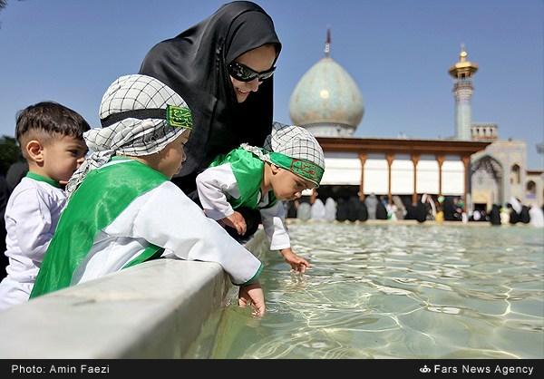 همایش شیرخوارگان حسینی+شیراز+محرم+چادر+اسلام+زن