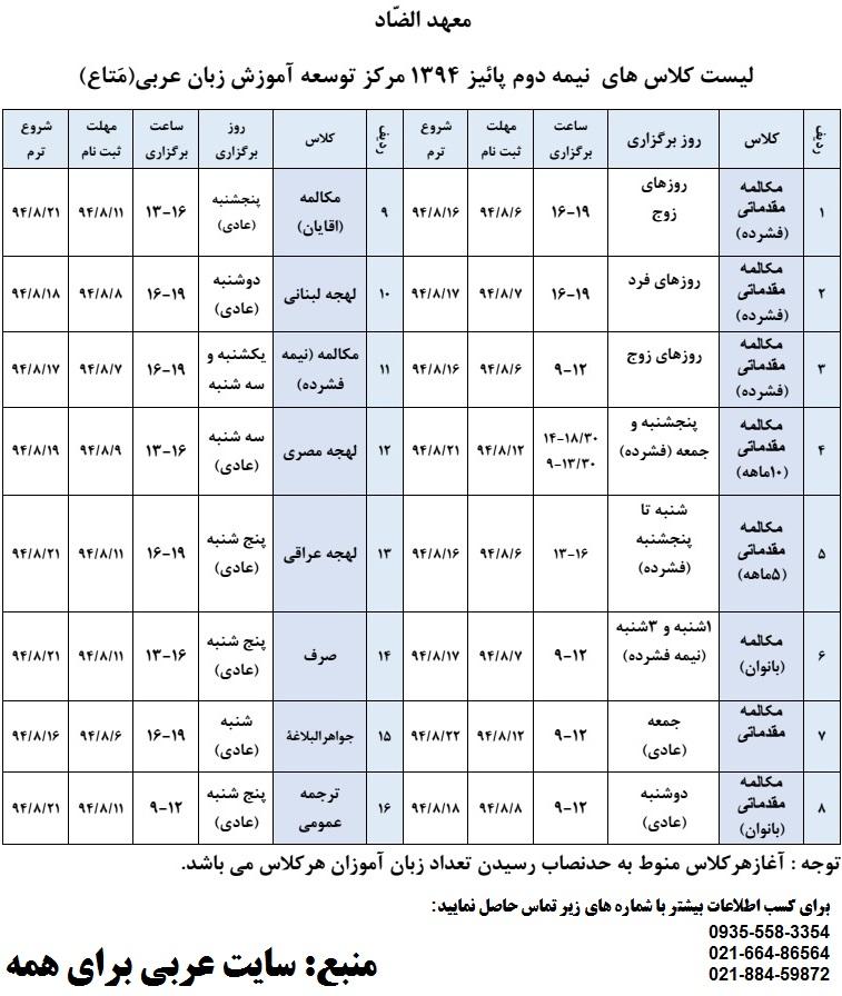 کلاس مکالمه لهجه لبنانی کتاب سی دی نرم افزار آموزش