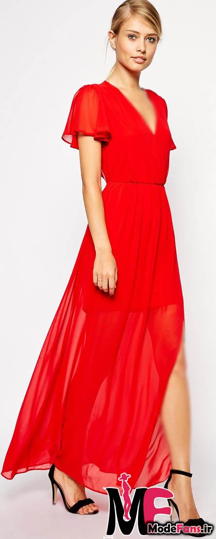 مدل لباس مجلسی شیک قرمز
