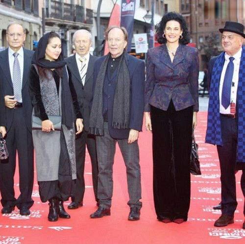 نیکی کریمی کنار پدرش ، در اسپانیا , اخبار سینما