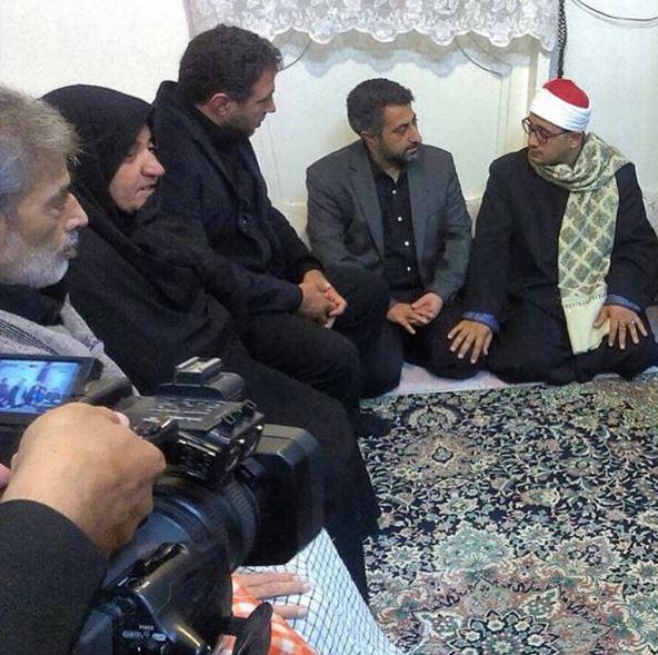 استاد محمود شحات انور در منزل شهید حسن دانش/آبان94