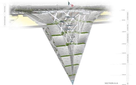 ساخت بزرگترین برج معکوس جهان در عمق 300 متری زمین (مکزیک)