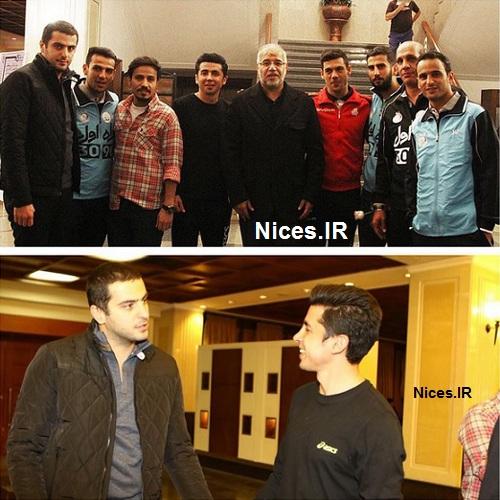 علی ضیا و حسین سلیمانی در بازدید پرویز مظلومی