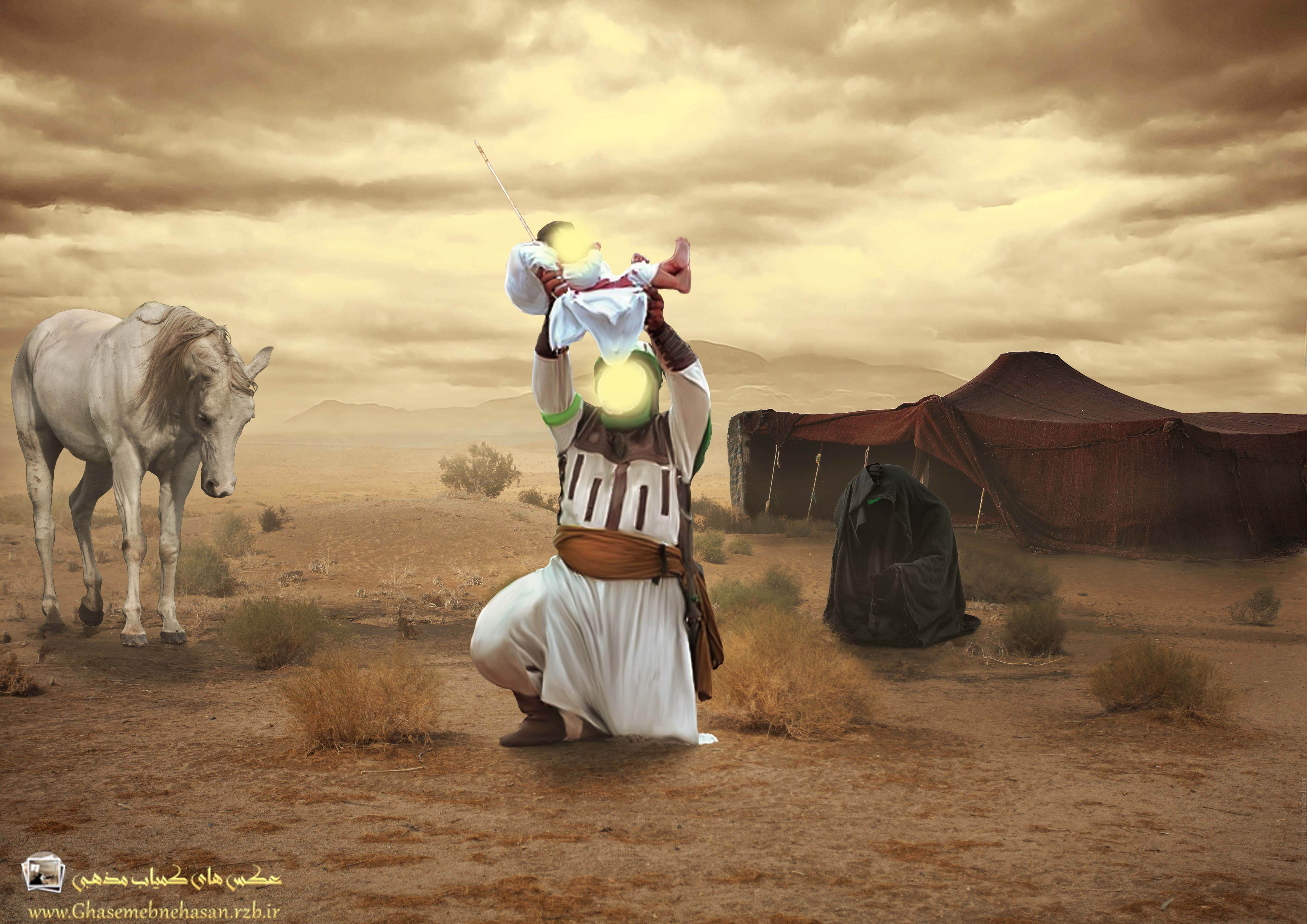 تاثیر  قیام امام حسین  در دفاع مقدس