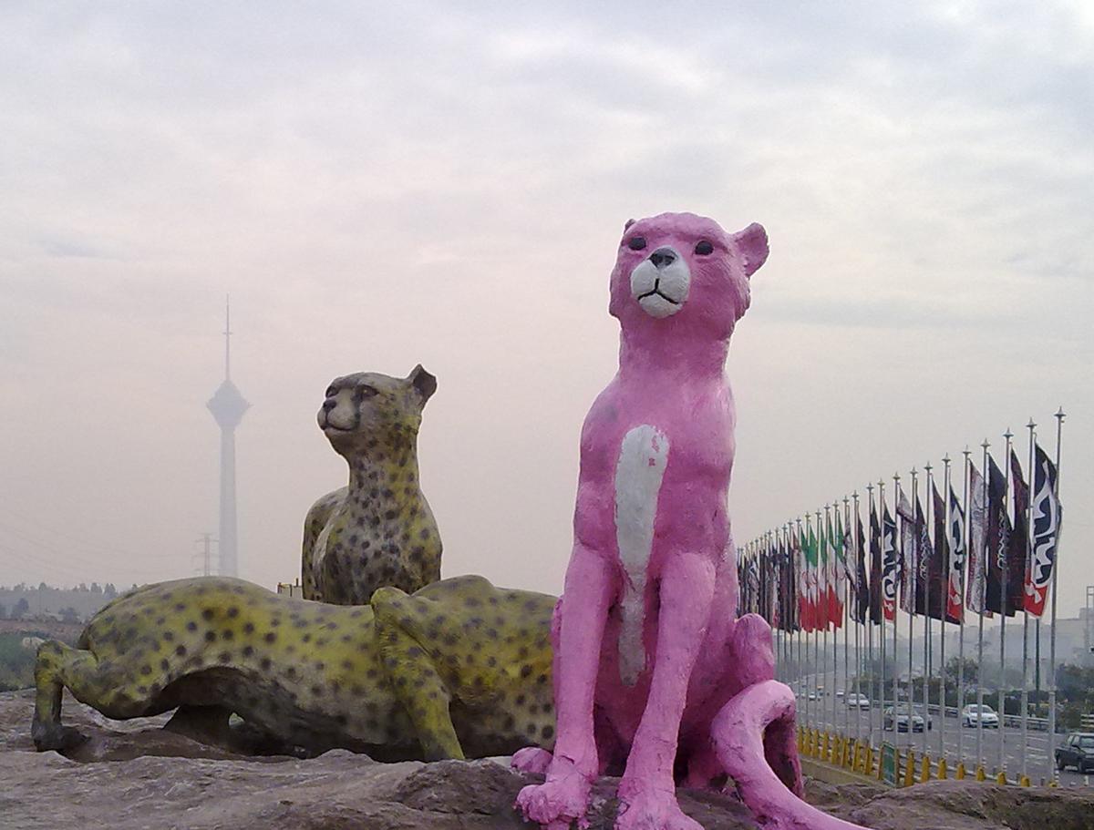pink panther - پلنگ صورتی - گرافیتی - هنر شهری - graffiti - street art - tehran - daydreamer - خیالباف - گرافیتی - یوز پلنگ صورتی - ماهی