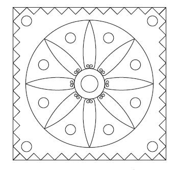 طرح گل روی ورق آموزش رسم طرح برجسته کاری روی مس با بریکس کد