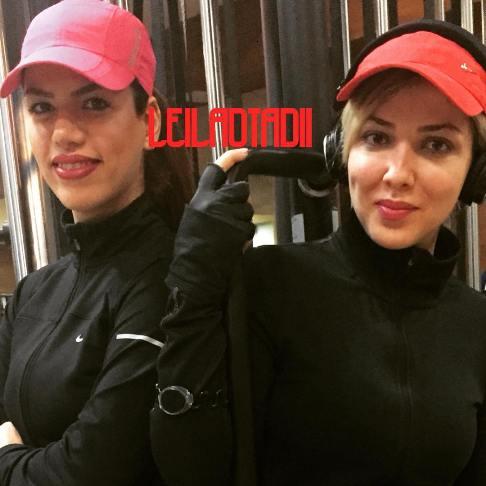 عکس لیلا اوتادی و مربی ورزش اش , عکس بازیگران