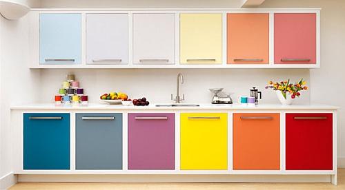کابینت آشپزخانه به رنگ های مختلف