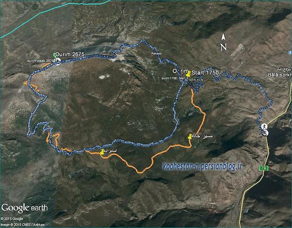 مسیر قله اوریم