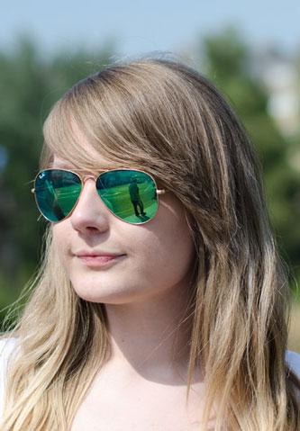 عینک ریبن با شیشه هایی سبز جدید