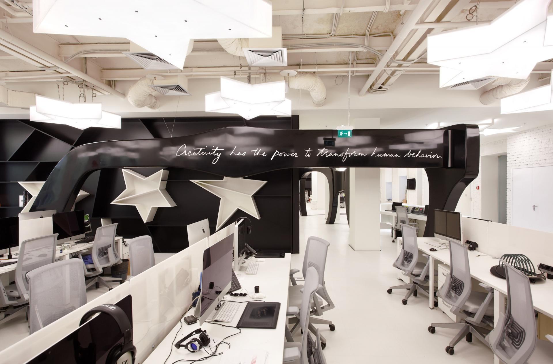 طراحی و دکوراسیون دفتر تبلیغاتی