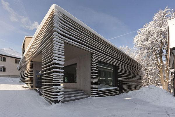 طراحی معماری یک سالن ورزشی در سوئیس