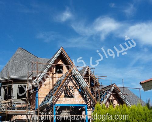سقف شیبدار شینگل،سقف شیروانی شینگل،پوشش شینگل،شینگل