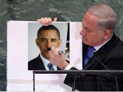 به بازی گرفتن اوباما توسط نتانیاهو