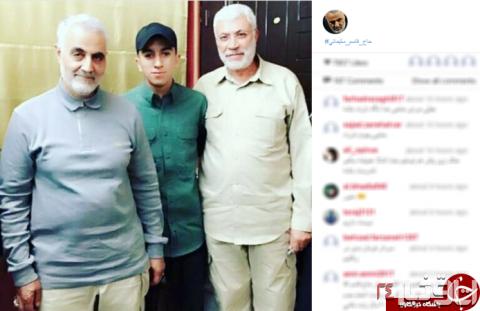 عکس جدید سردار سلیمانی در کنار مدافعان حرم , اجتماعی
