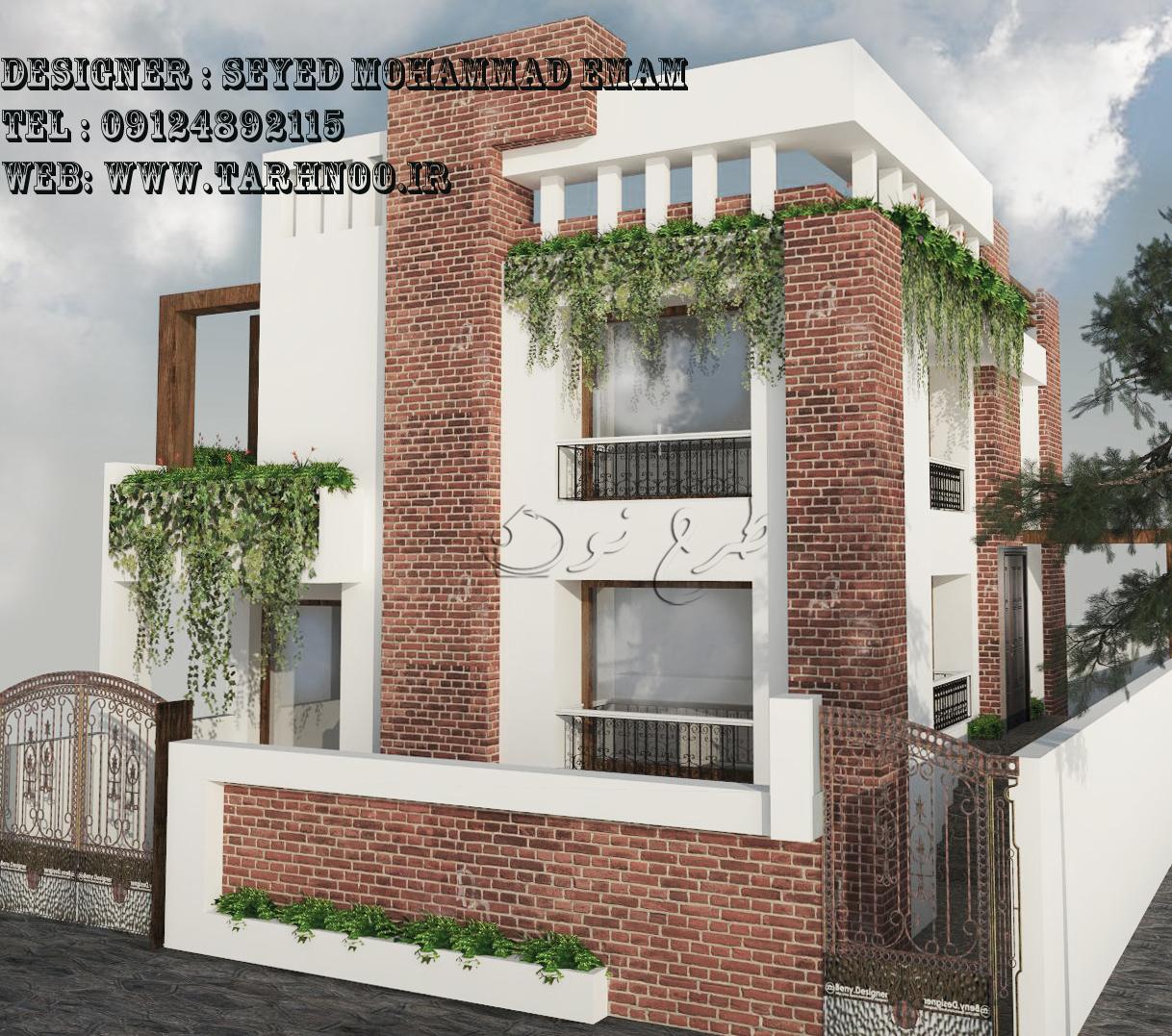 طراحی نمای ساختمان - انجام تری دی - پروژه دانشجویی- قیمت مناسب