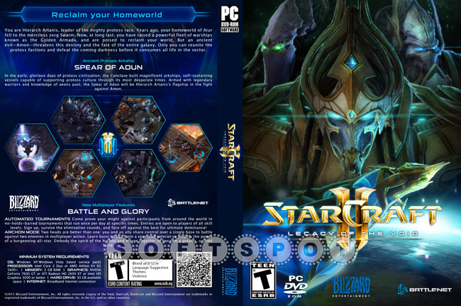 کاور بازی StarCraft II: Legacy of the Void