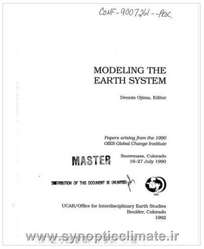دانلود کتاب مدلسازی سیستم زمین Modeling the Earth System