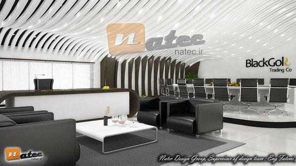 طراحی فضای اداری شرکت Black Gold