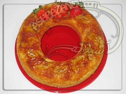 کیک وارونه موز