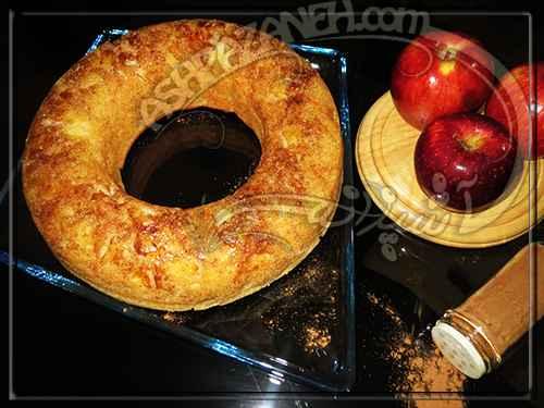 کیک وارونه سیب