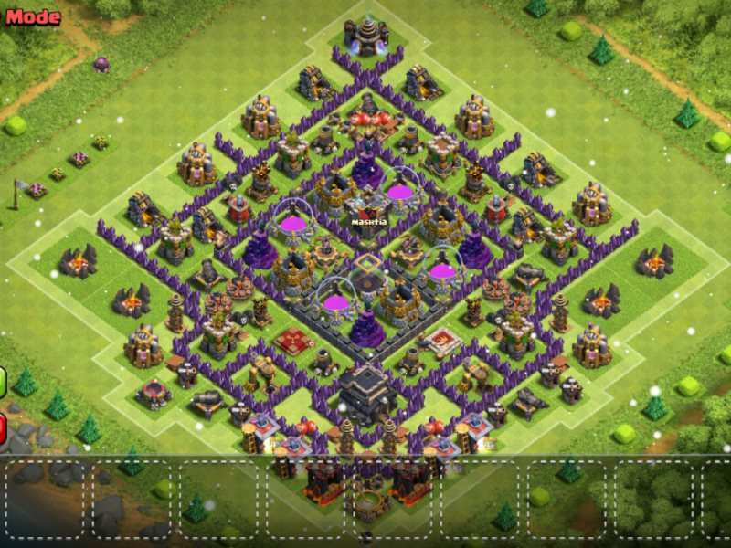 Megacube Layout Maximum De Protection For Th8 Clash Of Clans Land