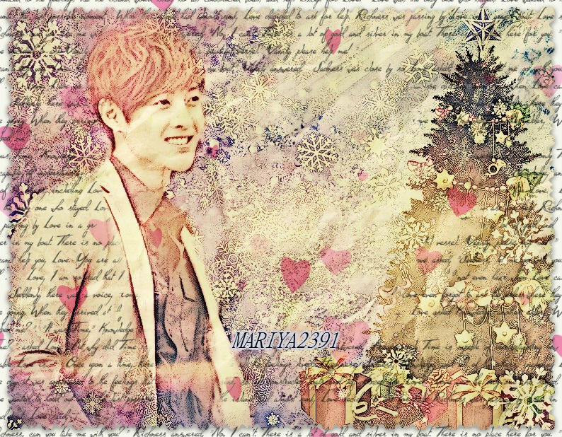 Christmas and Winter Gif and Wallpaper from Kim Hyun Joong