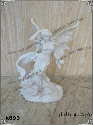 فرشته بالدار پلی استر ، مجسمه پلی استر، تولید مجسمه، مجسمه رزین، مجسمه، رزین، ساخت مجسمه، پلی استر