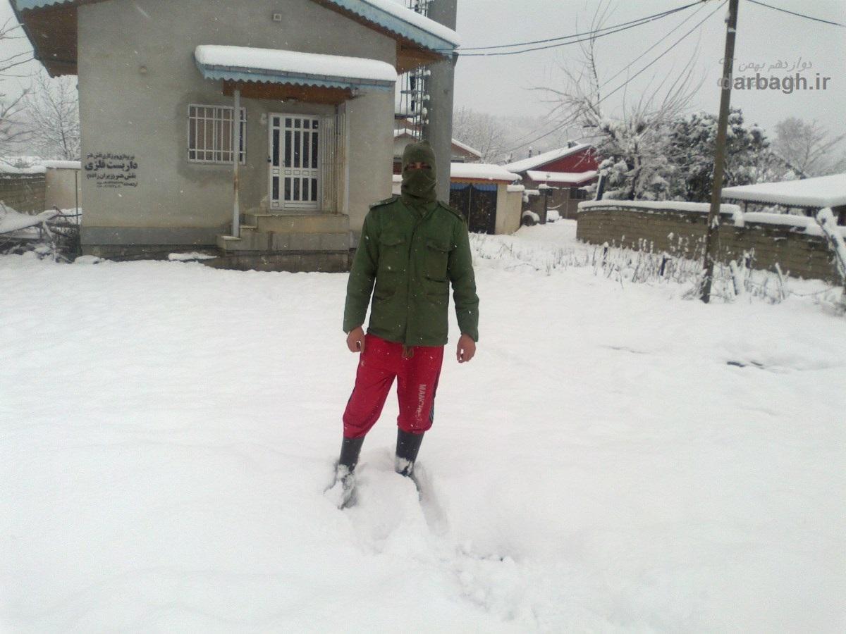 barf darbagh ir 12 12  برف دارباغ 12 بهمن 92