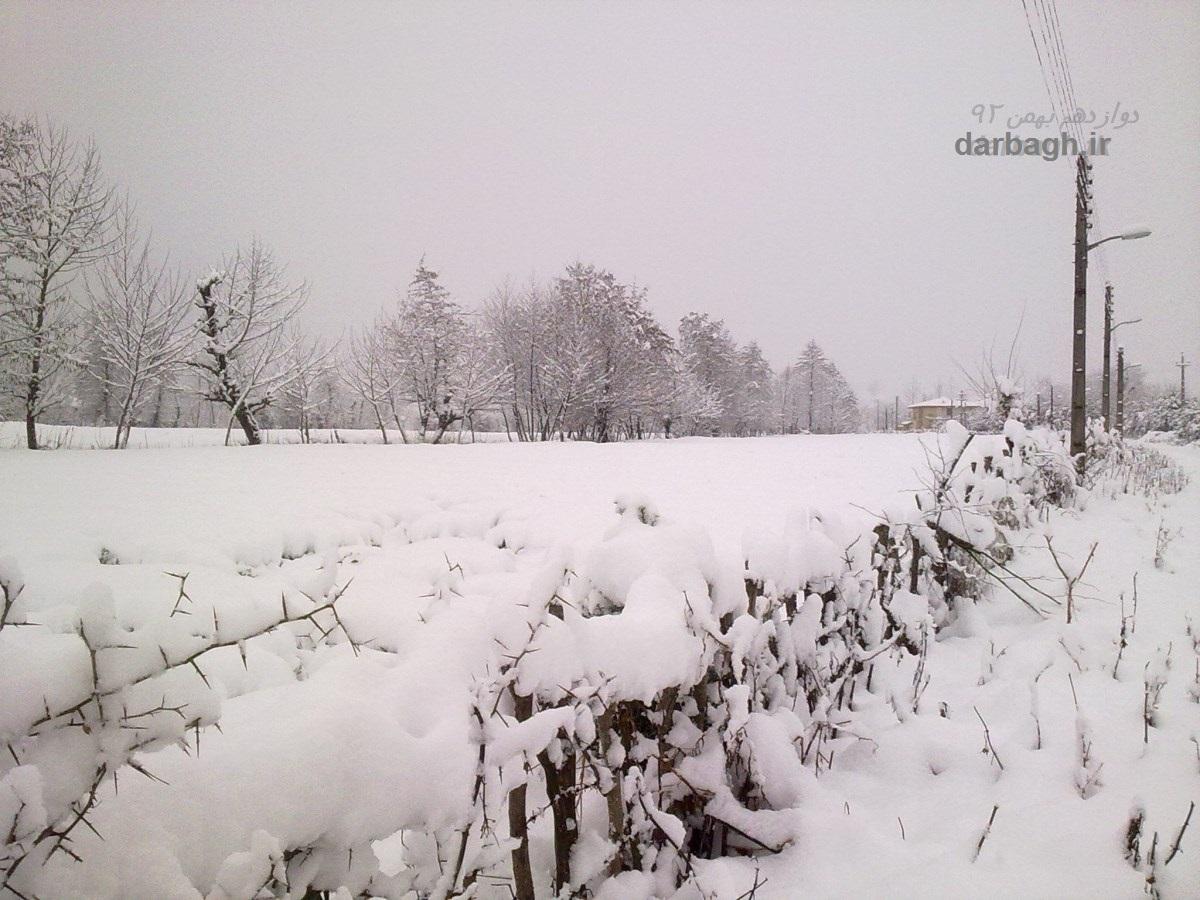 barf darbagh ir 12 20  برف دارباغ 12 بهمن 92