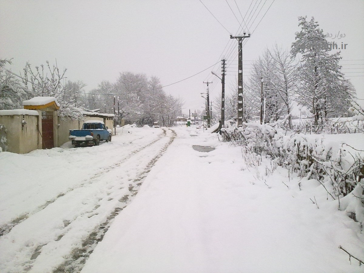 barf darbagh ir 12 21  برف دارباغ 12 بهمن 92