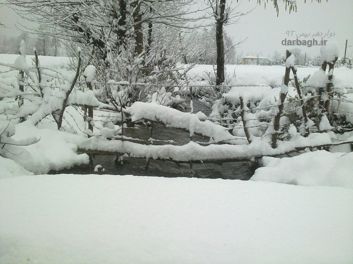 barf darbagh ir 12 26  برف دارباغ 12 بهمن 92