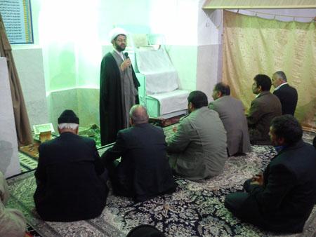 اقامه نماز در مسجد آقا سید حسن