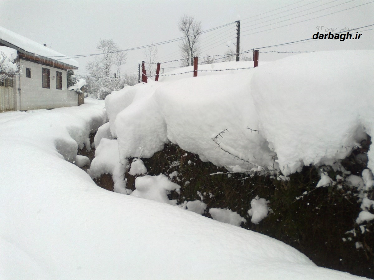 barf darbagh ir13 11 92 1  عکسهای برف دارباغ 13 بهمن 92