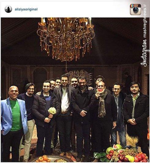 اولین عکس علی ضیا بعد از چند هفته دوری !! , تائتر وتلویزیون