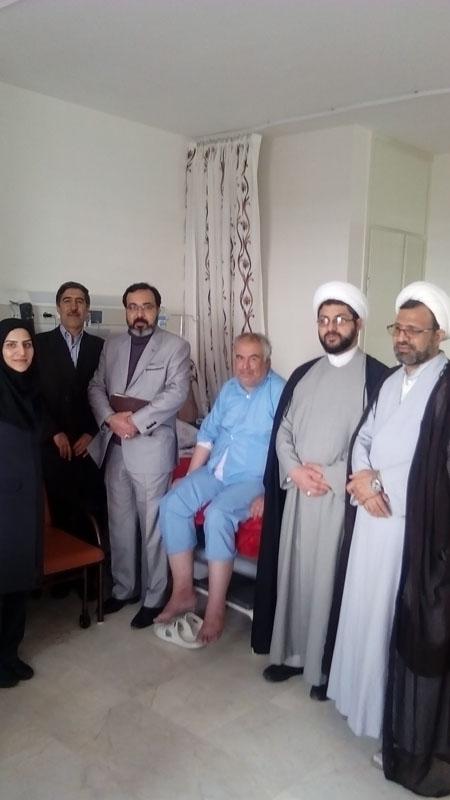 بازدید امام جمعه قهدریجان از بیمارستان شفا کلیشاد و سودرجان