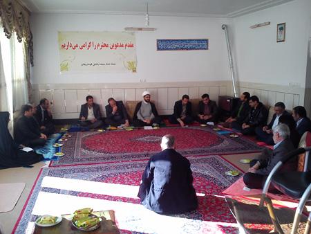 دیدار اعضاء هیئت اجرایی و نظارت انتخابات با امام جمعه قهدریجان