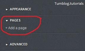 ایجاد صفحات جدید در تامبلر