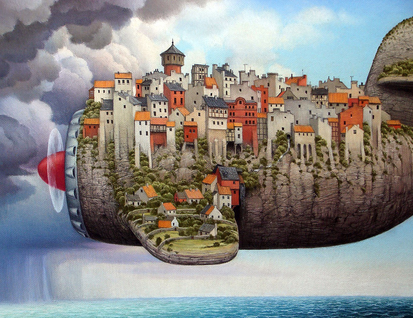 تصویر سازی - خیالباف - daydreamer - jacek yerka - illustration