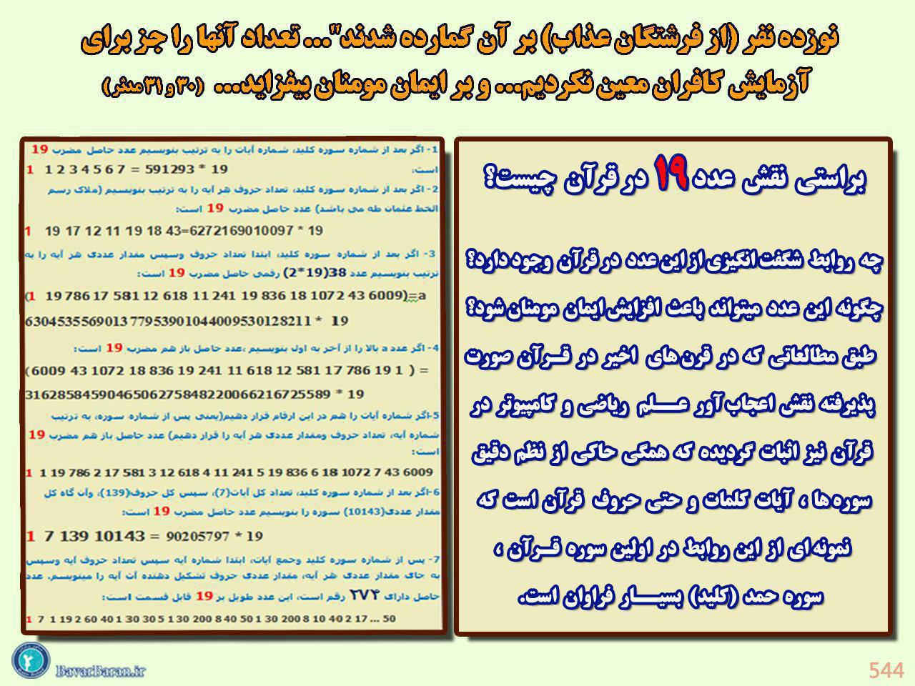اسراری از ۱۹ حرف بودن بسم الله الرحمن الرحیم